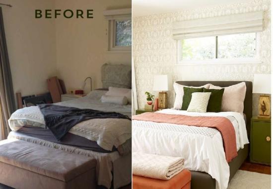 Hálószoba átalakítás - otthonos