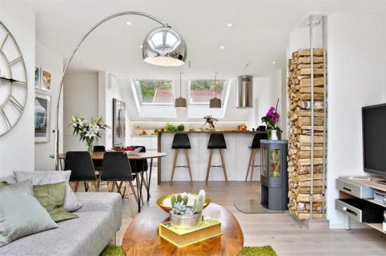 Modern tetőtér - két szobában - otthonos