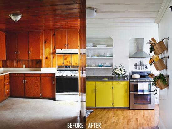 Konyha átalakítás: régiből vidám-sárga - otthonos