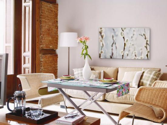 decoracao kitnet praia:konyha, a nappali és háló is egy légtérben található, a