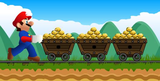 Marios goldminer játék