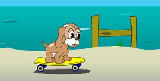 Kutyus a parton
