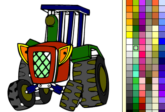 Traktoros kifestő