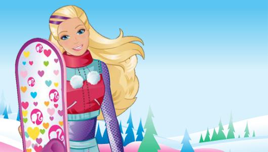 Barbie snowboard játék