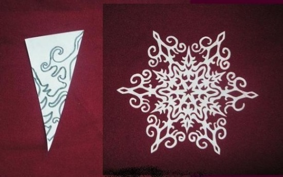 csináld_magad dekoráció díszítés diy hópehely karácsony papír