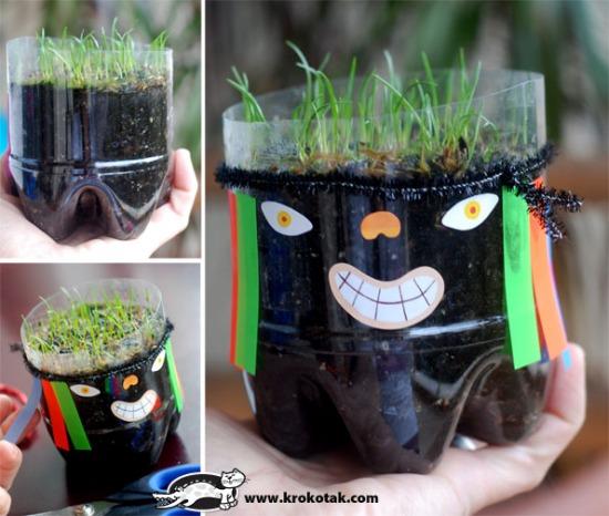 csináld_magad dekoráció diy fűfej kert