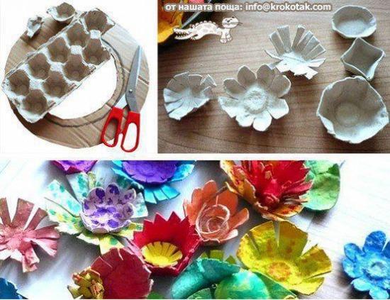 dekoráció festés ragasztás recycle tojástartó újrahasznosítás pritt