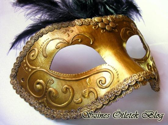 álarc diy farsang festés karnevál maszk szemmaszk velencei