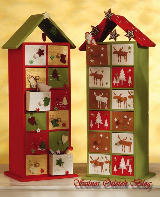 Adventi naptár - fiókos házikó tele ajándékkal 80e47d4c40