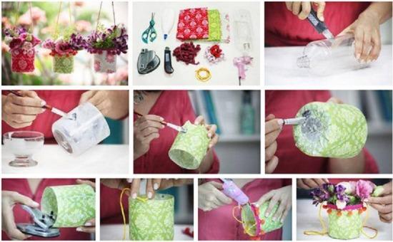 DIY újrahasznosítás csináld magad virágtartó