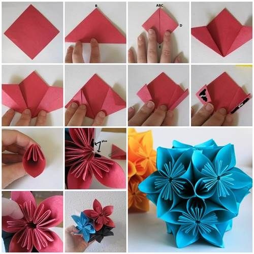 Origamizzunk Kusudama Vir G Hajtogat Sa Sz Nes Tletek