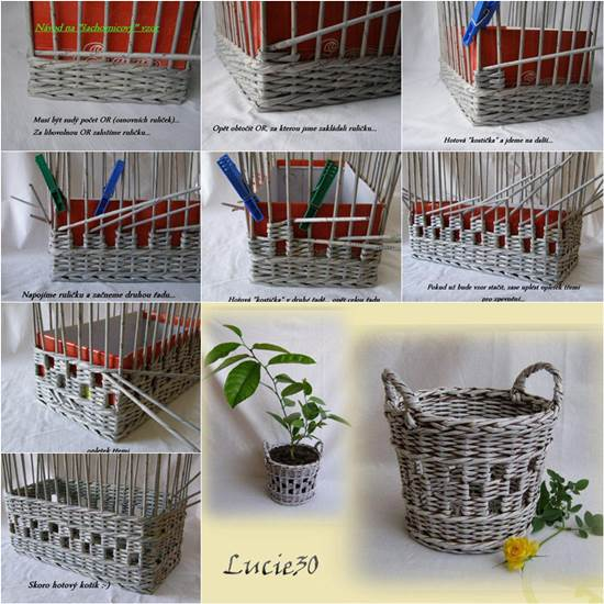 Basket Making Using Recycled Materials : Sz?nes ?tletek