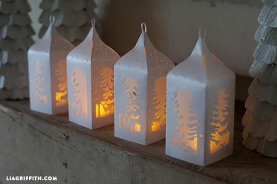 lámpás mécses papírlámpás karácsony