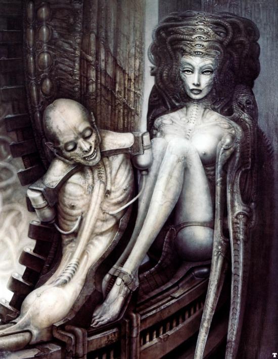 Giger szürrealista témájú és kivitelezésű alkotása