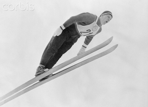 Antti Hyvarinen in Action on His Skis