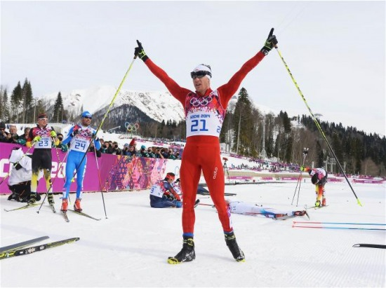 Sochi 2014 Day 3 - Cross Country Men's Skiathlon 15 km Classic + 15 km Free