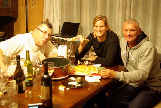 Rátgéber, Vajda és Ernest Radjen erőnléti edző