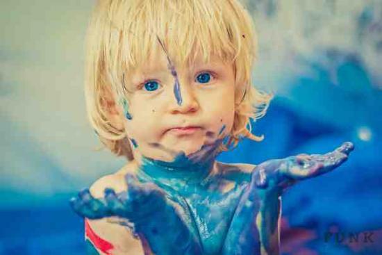 fotósorozat festék gyerek gyerekek óvoda