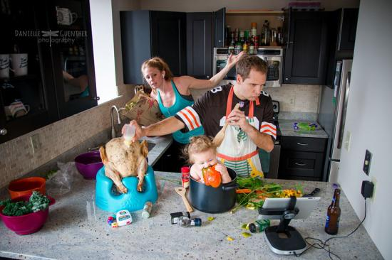 családi fotók káosz fotósorozat