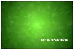 Zöld színek