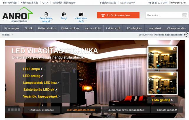 ANRO LED világítás webáruház