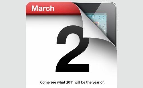 Apple iPad 2 bemutató meghívó