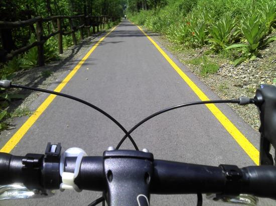 kerékpárút szob felé