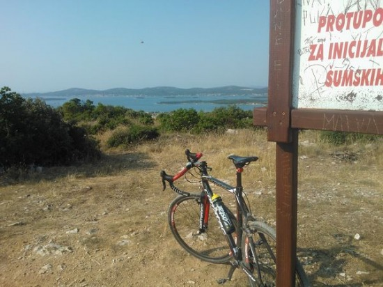 Horvátország, tengerpart, kerékpár