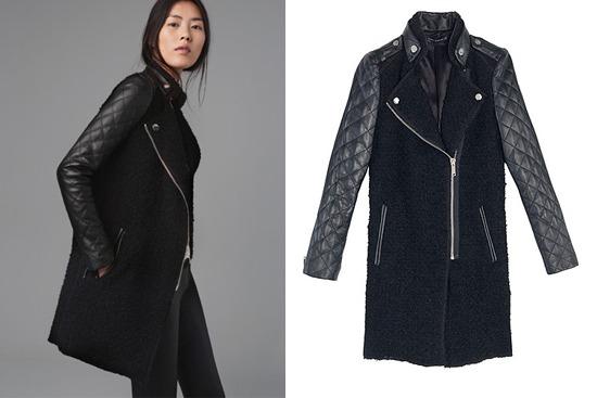 ea40e51c51 A Zara tavalyi lookbook képe a kabátról. >>